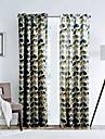 Un Panneau Le traitement de fenetre Designer , Feuille Salle de sejour Polyester Materiel Rideaux Tentures Decoration d\'interieur For