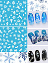 12pcs Nail Sticker Art Autocollants de transfert de l\'eau Maquillage cosmetique Nail Art Design