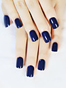 24pcs / set bandes de clous temperament bleu-noir court paragraphe commuer