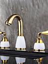 Contemporain Moderne Diffusion large large spary with  Soupape ceramique Deux poignees trois trous for  Ti-PVD , Robinet lavabo