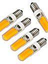 4W E14 Ampoules Bougies LED 1 COB 320-400 lm Blanc Chaud / Blanc Froid Decorative V 5 pieces