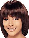 mignon style bob 12inch brun moyen # 4 droite naturelle frange cheveux humains perruques capless