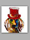 Peint a la main Abstrait / Animal Peintures a l\'huile,Classique / Modern Un Panneau Toile Peinture a l\'huile Hang-peint For Decoration