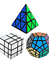 Shengshou® Cube de vitesse lisse Pyraminx / Alien / Megamix Miroir / Niveau professionnel Cubes magiques Noir Autocollant lisseAnti-pop /