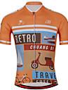 Sport Cykeltröja Unisex Kort ärm CykelAndningsfunktion / Snabb tork / Anatomisk design / Ultraviolet Resistant / Dragkedja fram /