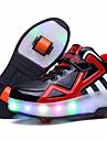 Svart Blå-Låg klack-Flickor-Komfort-Läder-Utomhus Fritid Sport-Sneakers