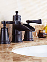 antique repandue valve en ceramique a melangeurs trois trous avec huile bronze lavabo robinet