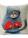 1 pcs Polyester Housse de coussin,Imprime animal Moderne/Contemporain / Decoratif