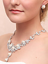 Bijuterii Coliere / Σκουλαρίκια / Brățară / Bijuterii de Păr Seturi de bijuterii de mireasă Imitație de Perle Cutii de cadouri & Pungi