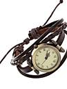 pentru Doamne Copii Ceas La Modă Ceas de Mână Ceas Brățară Quartz Quartz Japonez / Punk PU Bandă Vintage Boem Brățară rigidă Casual Maro