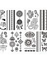 8 Tatouages Autocollants Series bijoux Series de fleur Non Toxique Motif Tribal Bas du Dos ImpermeableEnfant Homme Femelle Femme Adulte