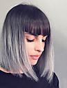 mode elegante perruques de cheveux humains droites pour les femmes
