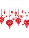 Noel / Floral / Forme Stickers muraux Stickers avion Stickers muraux decoratifs,PVC Materiel Lavable / Amovible / Repositionable