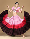 Belly Dance Bottoms Performance Cotton Tie Dye Pleated 1 Piece Dropped Skirt 92