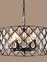 Lampe suspendue ,  Retro Retro Rustique Peintures Fonctionnalite for Cristal Designers MetalSalle de sejour Chambre a coucher Salle a