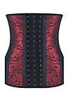 Feminin Corset sub Bust Pijamale,Mediu Spandex-Sexy Jacquard Multi-color