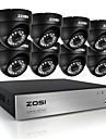 zosi®8ch CCTV-system 8ch 720p AHD CCTV dvr 8st 1,0 mp hd ir säkerhet kameran