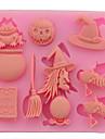 halloween påsk häxa produkter pumpor sockerkaka bröd mousse gelé beredda livsmedel färg slumpmässigt 8,7 * 7 * 0.9cm