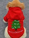Chien Pulls a capuche Rouge Vetements pour Chien Hiver Couleur Pleine Mignon / Vacances / Mode / Noel