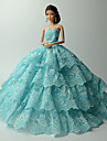 Fete / Soiree Robes Pour Poupee Barbie Bleu Lace Robes Pour Fille de Doll Toy