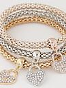 צמידים צמידי צ\'ארם סגסוגת / אבן נוצצת יומי תכשיטים מתנות צבעוני,1set