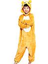 kigurumi Pyjamas Ours Collant/Combinaison Fete / Celebration Pyjamas Animale Halloween Jaune Mosaique Flanelle Kigurumi Pour Enfant