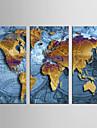 toile set Abstrait / Celebre Modern / Style europeen,Trois Panneaux Toile Verticale Imprimer Art Decoration murale For Decoration