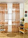 En panel Fönster Behandling Nyklassisistisk / Europeisk , Blomma Living Room PVC Material Sheer gardiner Shades Hem-dekoration For Fönster