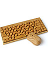 trådlöst tangentbord bambu bambu trä bambu trådlös mus tangentbord