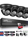 sannce® 720p camera de securitate acasă 1080n 4ch HD sistem exterior DVR CCTV IR încorporat hdd 1TB