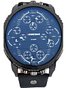 Bărbați Ceas Sport Ceas Militar Ceas Elegant Ceas La Modă Ceas de Mână Quartz Calendar Zone Triple De Timp Punk Piele BandăVintage Cool