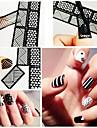 12 Nail Sticker Art Diecut Manucure Pochoir Maquillage cosmetique Nail Art Design