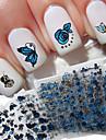 24pcs Nail Art Sticker 3D Nagelstickers makeup Kosmetisk Nail Art Design