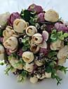 """Flori de Nuntă Rotund Trandafiri Bujori Buchete Nuntă Petrecere / Seară Satin 9.06""""(Approx.23cm)"""