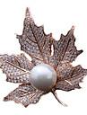Dame Broșe Perle Auriu Argintiu Auriu Bijuterii Zilnic