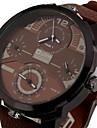 Bărbați Ceas Sport Ceas Militar Ceas Elegant Ceas La Modă Ceas de Mână Quartz Zone Triple De Timp Plin de Culoare Punk Piele BandăVintage