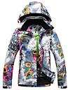 Tenue de Ski Anorak pour Ski/snowboard Femme Tenue d\'Hiver Polyester Floral / Botanique Vetement d\'HiverGarder au chaud / Pare-vent /