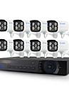 yanse® 8ch 960H 1000tvl couleur de la camera kit CCTV DVR ir cameras de securite etanche systeme 3.6mm 720cf08