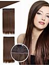 5 clips de pince a cheveux dans les cheveux synthetiques extensions 24inch 120g / resistance pc haute temperature # 1jet couleur noire