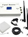 ecran lcd 3g 2100MHz telephone mobile amplificateur de signal avec le fouet et l\'antenne du panneau kit blanc