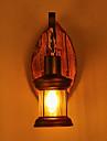enda huvud industriell retro trä metall målning färg vägglampa för hemmet / hotell / korridor dekorera vägglampa