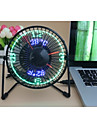 Nyhet Clock Fan with Floating LED Timeand  Temperature  Display 130cm 145*168*115 Svart