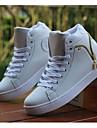 Bărbați Adidași Confortabili Pantofi vulcanizați PU Casual Confortabili Pantofi vulcanizați Alb Negru Plat