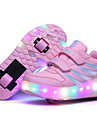Fille-Exterieure Sport Decontracte-Noir Rose-Talon Bas-Confort Light Up Chaussures-Baskets-Cuir