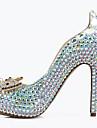 Homme-Mariage Soiree & Evenement-Bleu-Talon Aiguille Plateforme Talon cristal-A Plateau Confort club de Chaussures Light Up Chaussures-