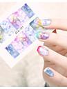 1 Autocollant d\'art de clou Autocollants de transfert de l\'eau Bijoux pour ongles Bande dessinee Fleur Adorable Maquillage cosmetiqueNail