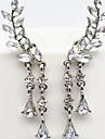 Cercei cu Clip bijuterii de lux Imitație de Perle Ștras imitație de diamant Aliaj Auriu Argintiu Bijuterii Pentru Petrecere Zilnic Casual
