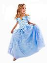 Costumes de Cosplay Costume de Soiree Bal Masque Princesse Cinderella Conte de Fee Cosplay Cosplay de Film Robe Halloween Carnaval Enfant