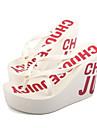 Svart Blå Brun Rosa Vit Mörkröd-Kilklack-Dam-Slingback-Polyester-Fritid-Tofflor och flip-flops