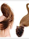 """Människohår förlängningar Mänskligt hår 100g 18""""~28"""" Hårförlängning"""